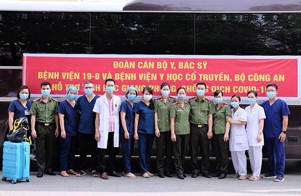 Thêm 120 y, bác sĩ CAND lên đường chi viện cho Bệnh viện dã chiến số 2 Bắc Giang