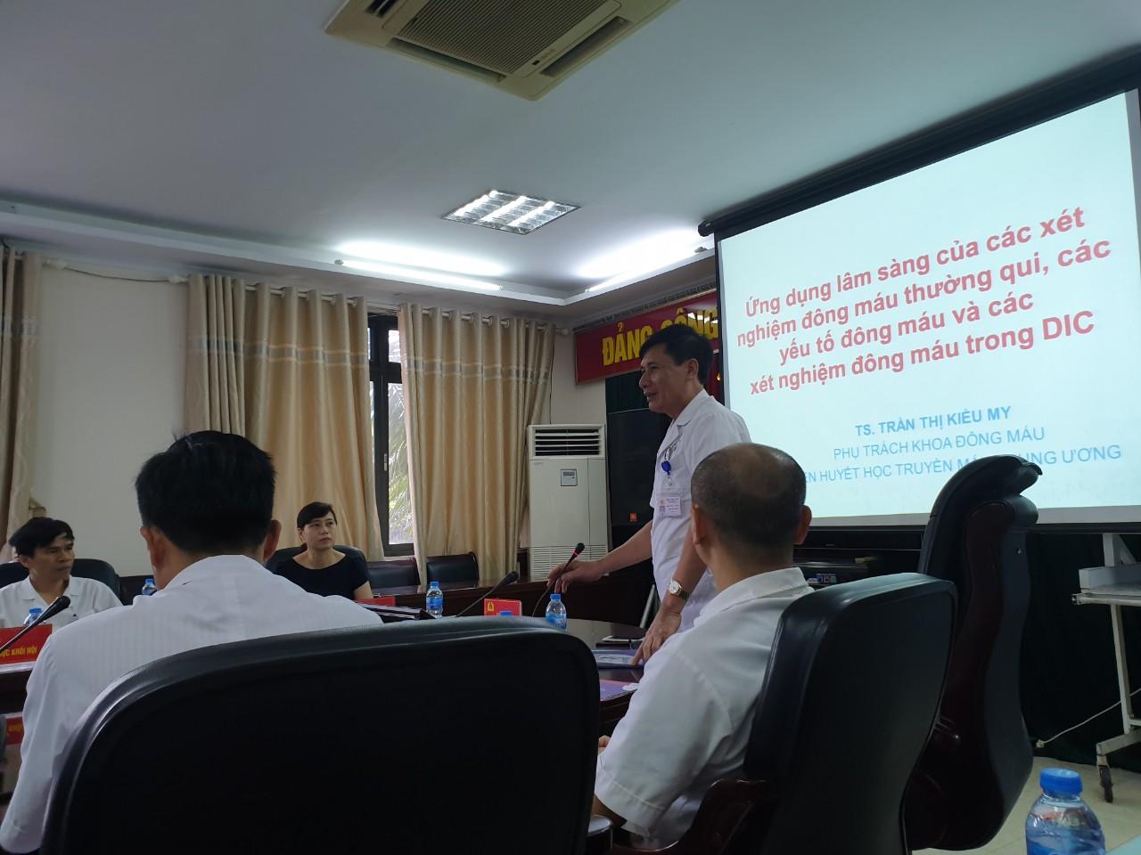 Bệnh viện 19-8 tổ chức hội thảo khoa học về huyết học truyền máu