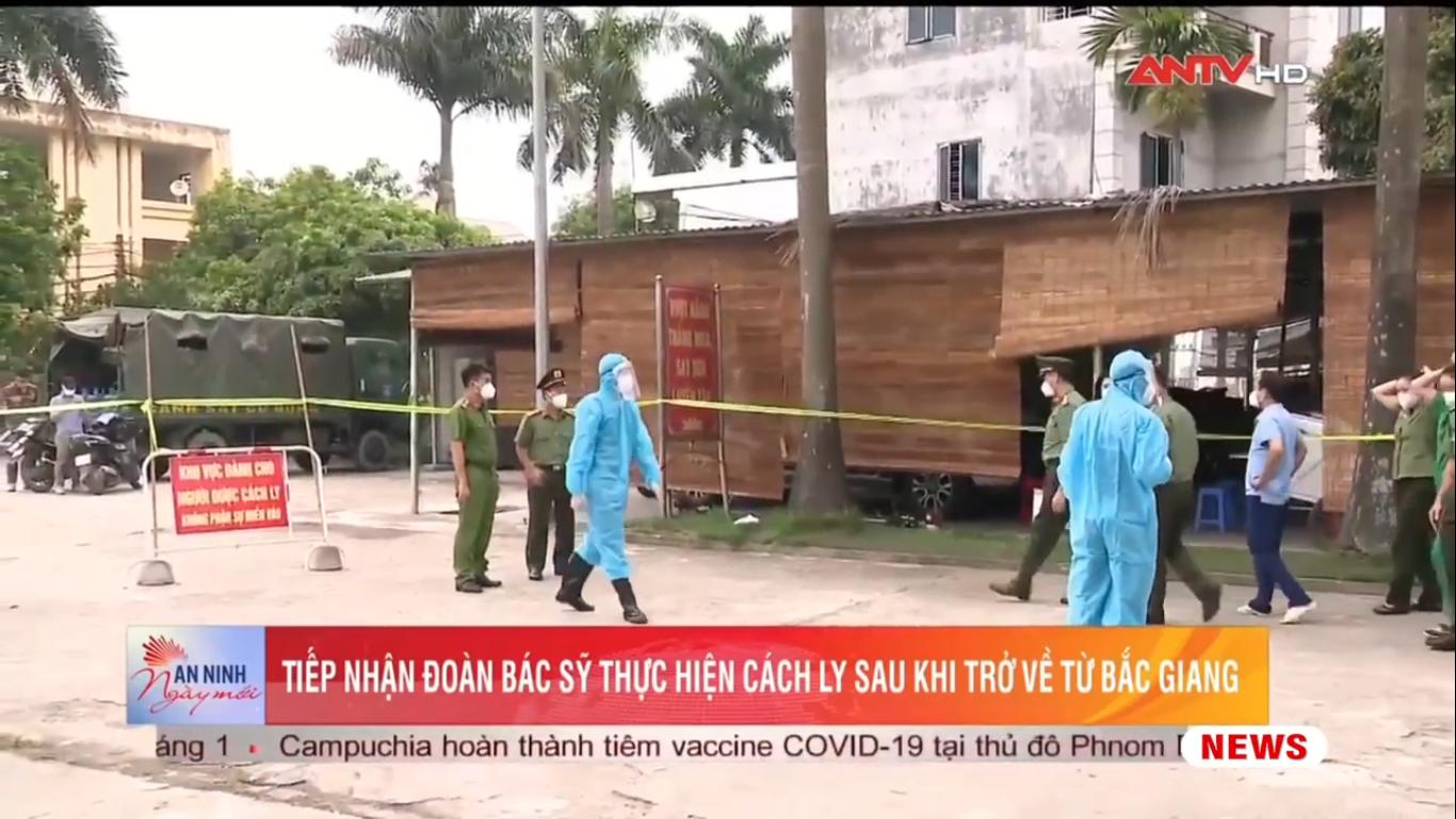 Tiếp nhận đoàn bác sỹ thực hiện cách ly sau khi trở về từ Bắc Giang