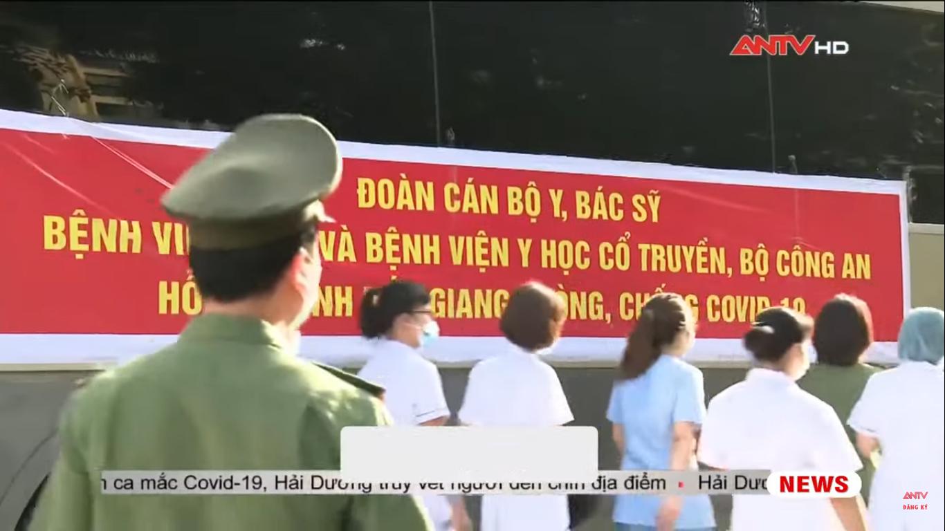 Lễ ra quân Đoàn cán bộ y tế Bệnh viện 19-8 và Bệnh viện Y học cổ truyền Bộ Công an tình nguyện chi viện tỉnh Bắc Giang phòng chống COVID-19